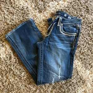 Miss Me Jeans, Size 30, Boot Cut, altered inseam